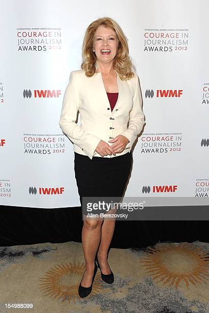 Mary Hart arrives at the 2012 Courage in Journalism Awards hosted by the International Women's Media Foundation held at the Beverly Hills Hotel on...