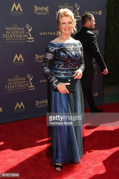 Mary Hart attends the 44th Annual Daytime Emmy Awards at Pasadena Civic Auditorium on April 30 2017 in Pasadena California
