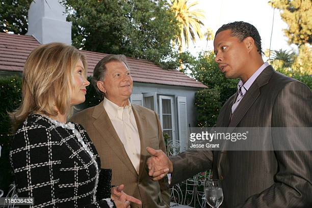 Mary Hart Burt Sugarman and Terrence Howard during Palm Springs International Film Festival Meet and Greet at Private Residence in Beverly Hills...