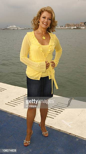 Mary Hart during 2006 Cannes Film Festival ET Films On The Carlton Dock Mary Hart at Carlton Hotel Dock in Cannes France