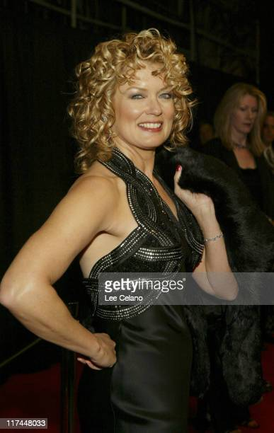Mary Hart during Palm Springs International Film Festival Awards Gala presented by Tiffany & Co. - Red Carpet at Palm Springs Convention Center in...