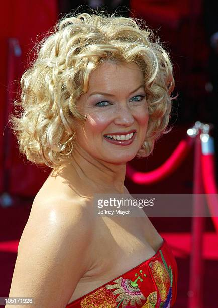 Mary Hart during The 55th Annual Primetime Emmy Awards Arrivals at The Shrine Theater in Los Angeles California United States