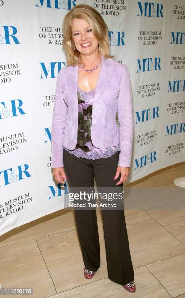 Mary Hart during The Museum of Television and Radio Presents 25 Years of Entertainment Tonight Arrivals at Museum of Television Radio in Beverly...