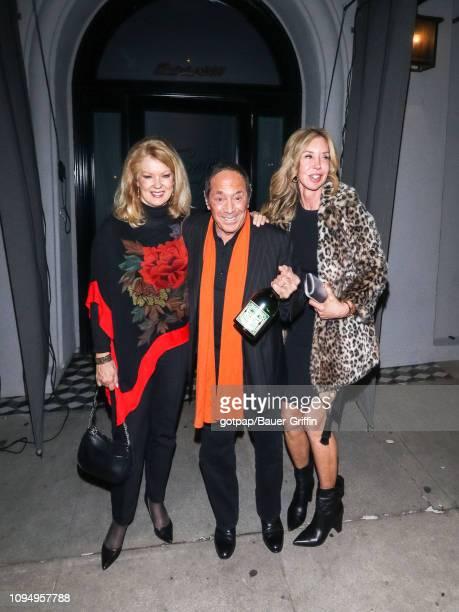 Mary Hart Paul Anka and Lisa Pemberton are seen on February 06 2019 in Los Angeles California
