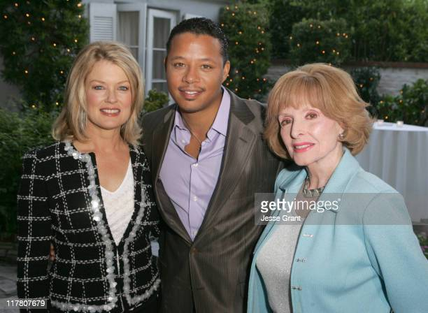 Mary Hart, Terrence Howard and Patricia Barry during Palm Springs International Film Festival - Meet and Greet at Private Residence in Beverly Hills,...