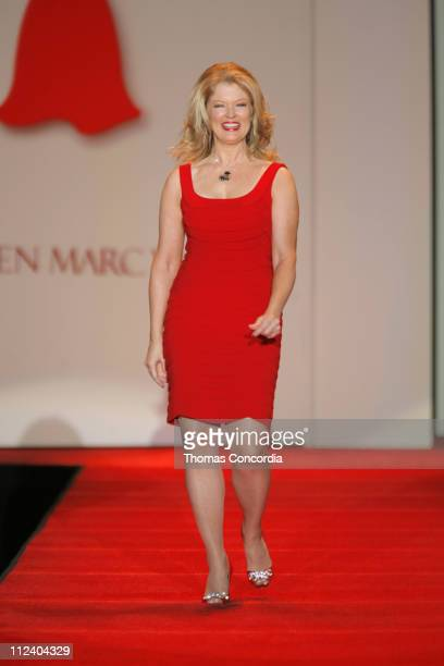 Mary Hart wearing Carmen Marc Valvo during Heart Truth Red Dress Fall 2007