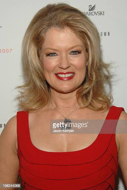 Mary Hart wearing Carmen Marc Valvo during MercedesBenz Fashion Week Fall 2007 Heart Truth Red Dress Arrivals in New York City New York United States