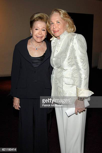 Mary Higgins Clark and Liz Smith attend Literacy Partners Hosts Annual Gala An Evening of Readings Honoring David and Julia Koch at Lincoln Center on...