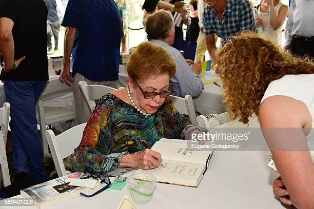 Mary Higgins Clark attends the Authors Night For The East Hampton Library at The East Hampton Library on August 13 2016 in East Hampton New York
