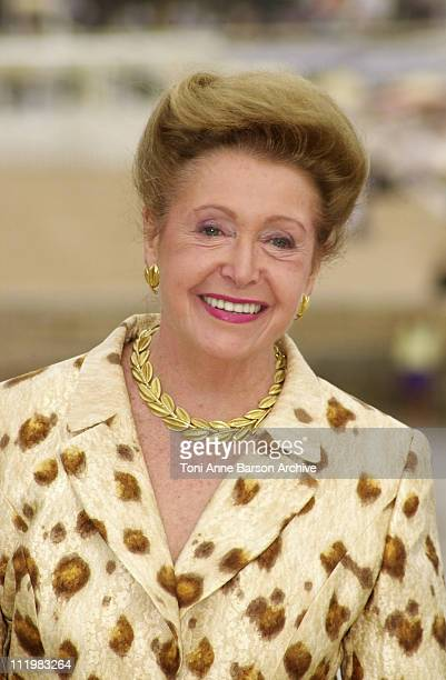 Mary Higgins Clark during MIPCOM 2001 Marie Higgins Clark Rigel Entertainment Photocall at Palais des Festivals in Cannes France