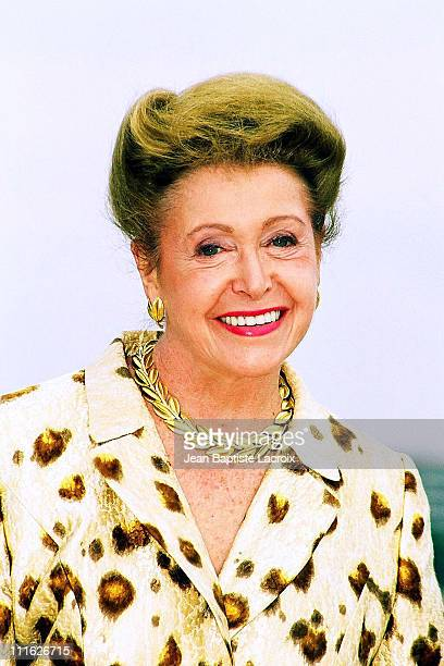 Mary Higgins Clark during MIPCOM 2001 Mary Higgins Clark Photocall at Palais des Festivals in Cannes France
