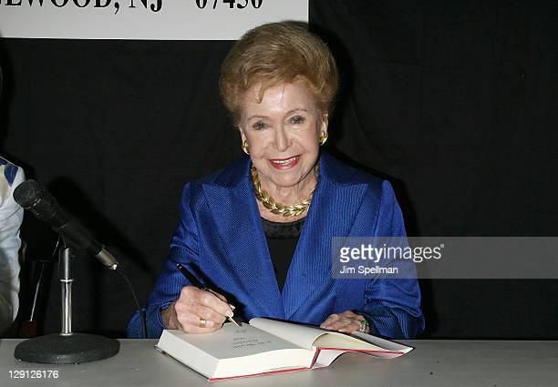 Mary Higgins Clark promotes I'll Walk Alone Mobbed at Bookends Bookstore on April 12 2011 in Ridgewood New Jersey