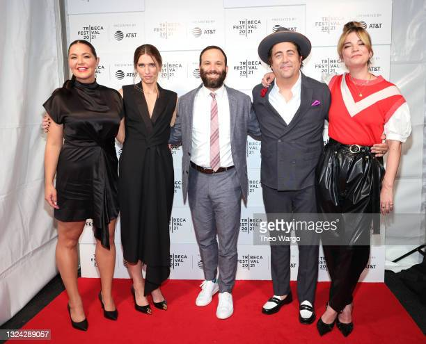 """Mary Hollis Inboden, Valerie Armstrong, Craig DiGregorio, Eric Petersen and Annie Murphy attend the """"Kevin Can F Himself"""" premiere during the 2021..."""