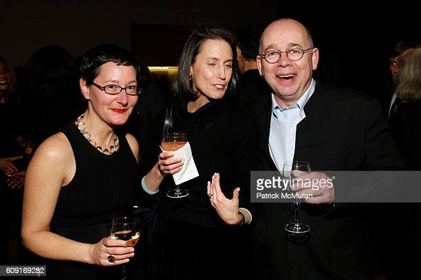 Mary House Carol Vogel and Willard Holmes attend Jeff Wall Exhibition Dinner at MoMa on February 20 2007 in New York City