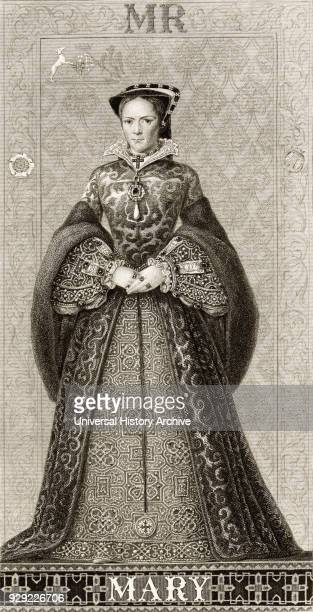 Mary I 1516 to 1558 Queen regnant of England and Ireland From Illustrations of English and Scottish History published 1882