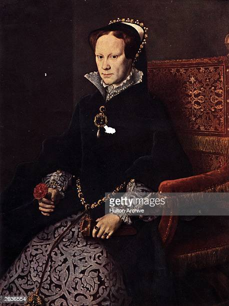 Mary I Queen of England from 1553 to 1558 circa 1553 Original Artwork A portrait by Dutch artist Anthonio Mor otherwise known as Sir Anthony More