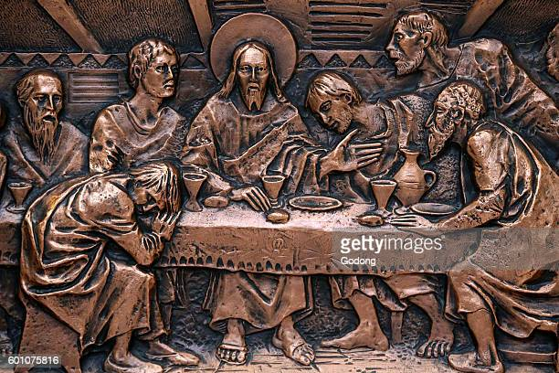 Mary Immaculate's church Muro Leccese Altar detail Italy