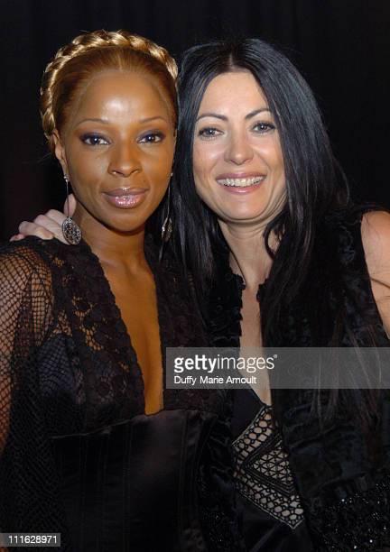 Mary J Blige and Catherine Malandrino Backstage at Malandrino Fall 2006