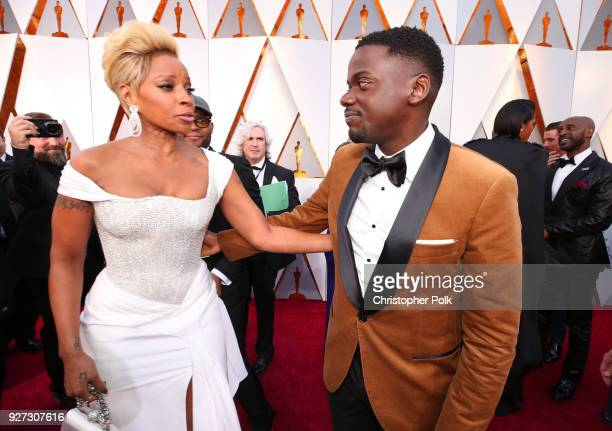 Mary J Blige and Daniel Kaluuya attend the 90th Annual Academy Awards at Hollywood Highland Center on March 4 2018 in Hollywood California