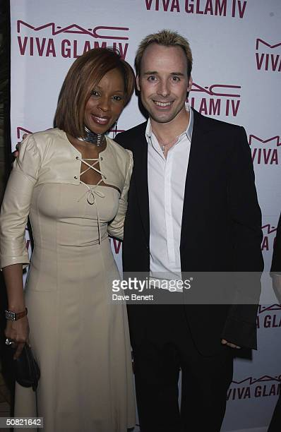 Mary J Blige and David Furnish attend the MAC Cosmetics Charity Party to support Aids in London in honour of Mary J Blige at The Criterion Restaurant...