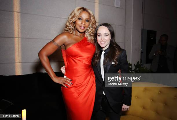 "Mary J. Blige and Ellen Page attend ""The Umbrella Academy"" Premiere on February 12, 2019 in Hollywood, California."