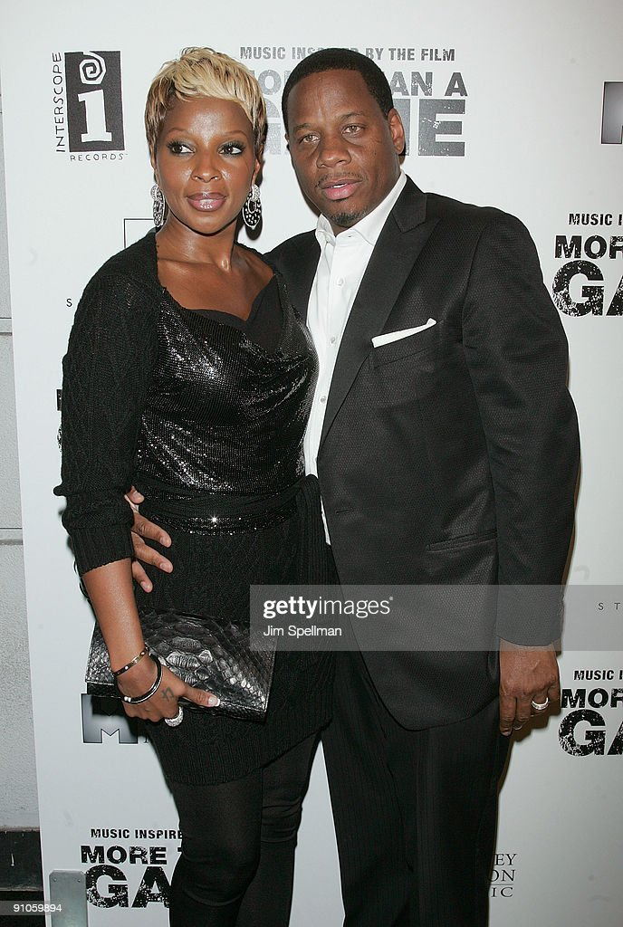 Mary J. Blige and husband Kendu Isaacs attend the 'Music Inspired By The Film More Than A Game' album release party at Marquee on September 22, 2009 in New York City.