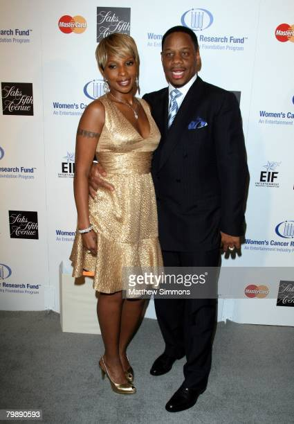 Mary J. Blige and husband Kendu Isaacs attend the Saks Fifth Avenue Unforgettable Evening at the Beverly Wilshire Hotel on February 20, 2008 in...