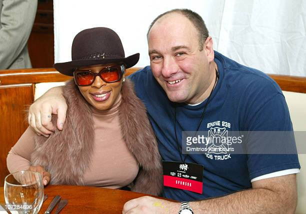 """Mary J. Blige and James Gandolfini during M.A.C Cosmetics Viva Glam Spokeswoman Mary J. Blige Hosts The First Ever """"Dream Halloween"""" Event To Benefit..."""