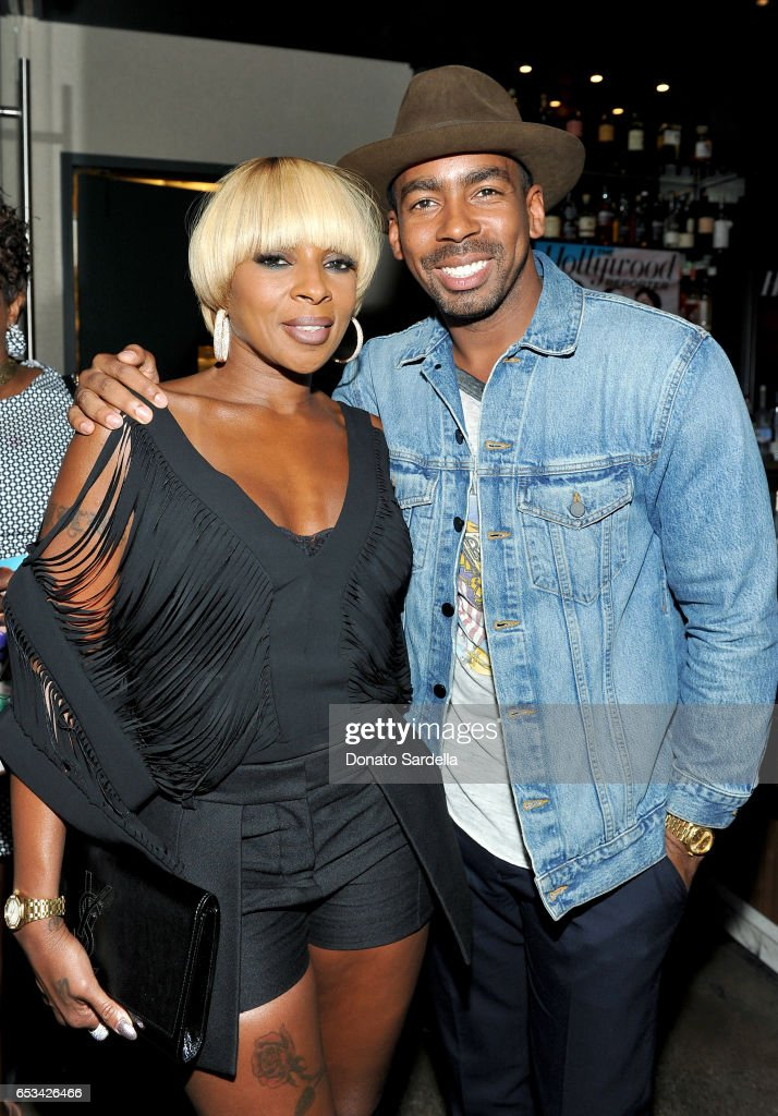 Mary J. Blige (L) and Jason Bolden at the Power Stylists Dinner, hosted by The Hollywood Reporter and Jimmy Choo, on March 14, 2017 in West Hollywood, California.