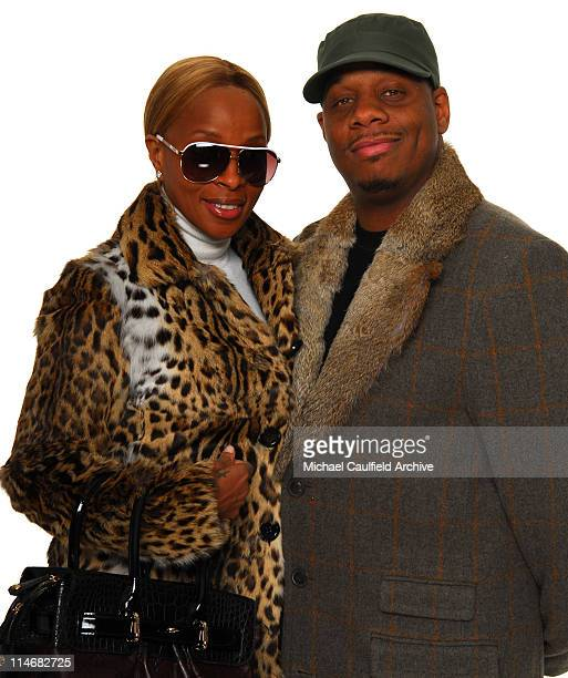 "Mary J. Blige and Kendu Isaacs during Access Hollywood ""Stuff You Must..."" Lounge Day 2 - Portraits at Sofitel LA in Los Angeles, California, United..."