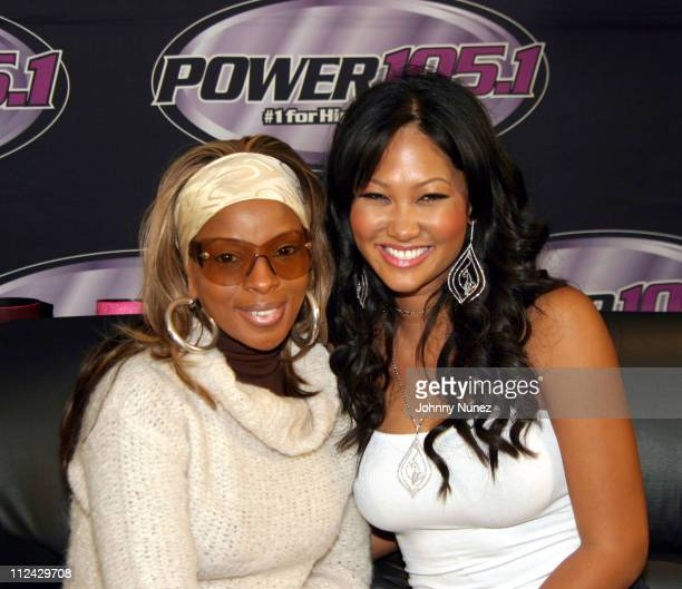 Mary J Blige and Kimora Lee Simmons during Kimora Lee Simmons Hosts Power 1051 at Planet Hollywood in New York City New York United States