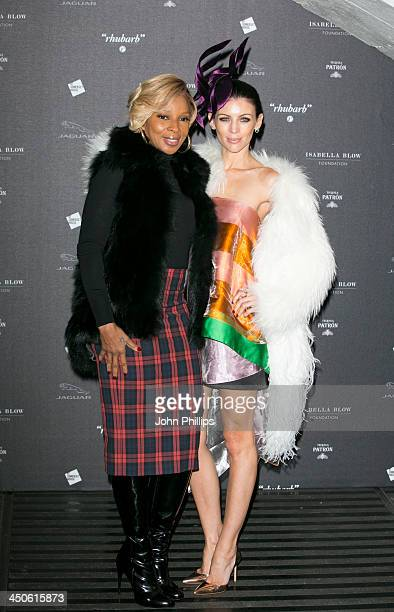 Mary J Blige and Liberty Ross attends Isabella Blow Fashion Galore at Somerset House on November 19 2013 in London England