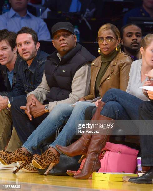Mary J Blige and Martin Kendu Isaacs attend a basketball game between the Brooklyn Nets and the Los Angeles Lakers at Staples Center on November 20...