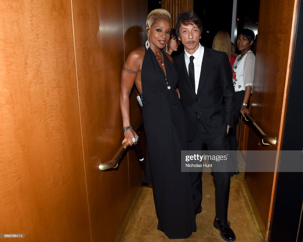 Mary J. Blige and Pierpaolo Piccioli attend the Valentino Resort 2018 Runway Show After Party at the Boom Boom Room on May 23, 2017 in New York City.