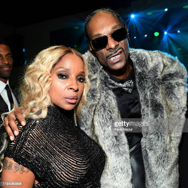 Mary J Blige and Snoop Dogg attend Sean Combs 50th Birthday Bash presented by Ciroc Vodka on December 14 2019 in Los Angeles California