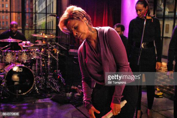 Mary J Blige appears on the TV show PRIVATE SESSIONS on December 6 2009 in New York City