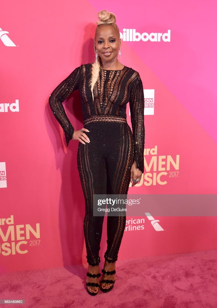 Mary J. Blige arrives at the Billboard Women In Music 2017 at The Ray Dolby Ballroom at Hollywood & Highland Center on November 30, 2017 in Hollywood, California.
