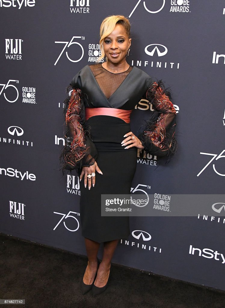 Mary J. Blige arrives at the Hollywood Foreign Press Association And InStyle Celebrate The 75th Anniversary Of The Golden Globe Awards at Catch LA on November 15, 2017 in West Hollywood, California.