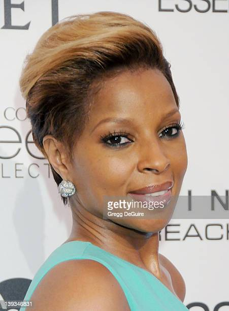 Mary J Blige arrives at the Third Annual ESSENCE Black Women in Hollywood Luncheon at the Beverly Hills Hotel on March 4 2010 in Beverly Hills...