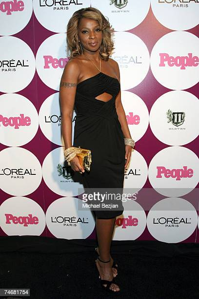 Mary J Blige at the ELEVEN Restaurant and Nightclub in West Hollywood California