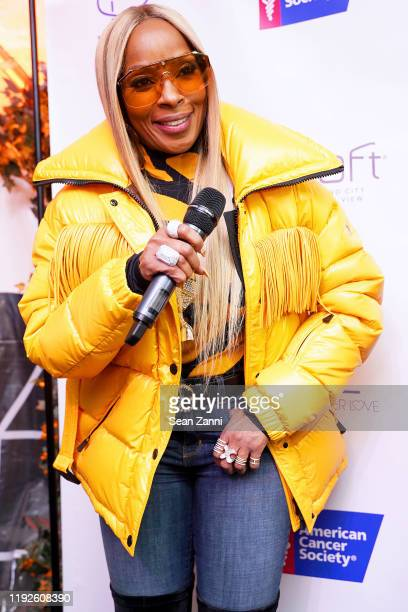 Mary J Blige attends as Mary J Blige and Simone I Smith launch their Sister Love Jewelry Holiday Pop Up Shop In Long Island City NY at Aloft Long...