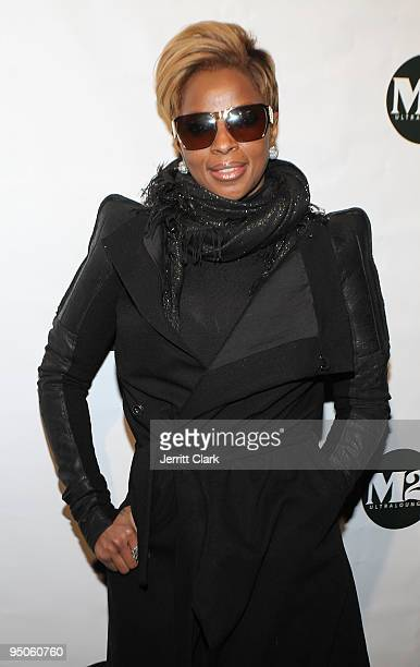 Mary J. Blige attends her album release party at M2 Ultra Lounge on December 22, 2009 in New York City.