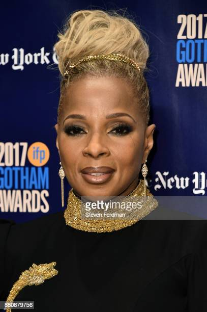 Mary J Blige attends IFP's 27th Annual Gotham Independent Film Awards at Cipriani Wall Street on November 27 2017 in New York City
