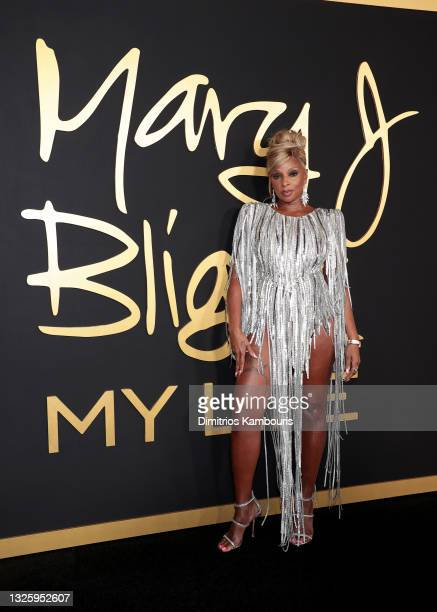 Mary J. Blige attends 'Mary J Blige: My Life' premiere presented by Amazon Studios at Rose Theater at Jazz at Lincoln Center's Frederick P. Rose Hall...