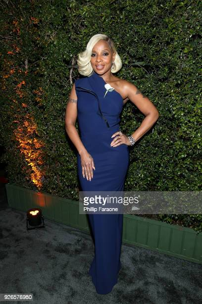 Mary J. Blige attends the 11th annual celebration of the 2018 Female Oscar nominees presented by Women in Film at Crustacean on March 2, 2018 in...