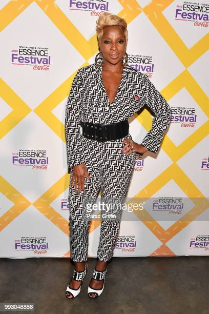 Mary J Blige attends the 2018 Essence Festival presented by CocaCola at Ernest N Morial Convention Center on July 6 2018 in New Orleans Louisiana