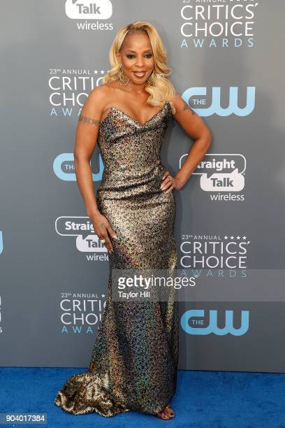 Mary J Blige attends the 23rd Annual Critics' Choice Awards at Barker Hangar on January 11 2018 in Santa Monica California