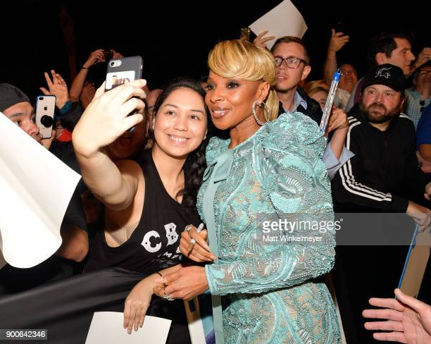 Mary J Blige attends the 29th Annual Palm Springs International Film Festival Awards Gala at Palm Springs Convention Center on January 2 2018 in Palm...