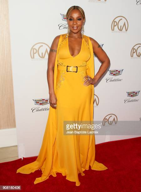 Mary J Blige attends the 29th Annual Producers Guild Awards at The Beverly Hilton Hotel on January 20 2018 in Beverly Hills California