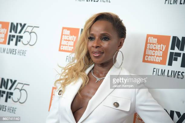 Mary J Blige attends the 55th New York Film Festival screening of 'Mudbound' at Alice Tully Hall in New York on October 12 2017